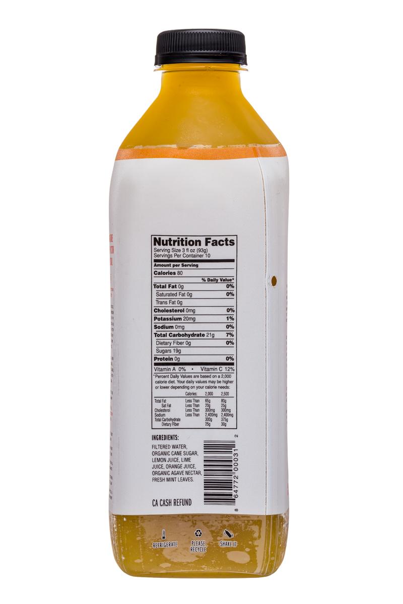Fresh Victor: FreshVictor-32oz-CocktailBlend-ThreeCitrusMintLeaf-Facts