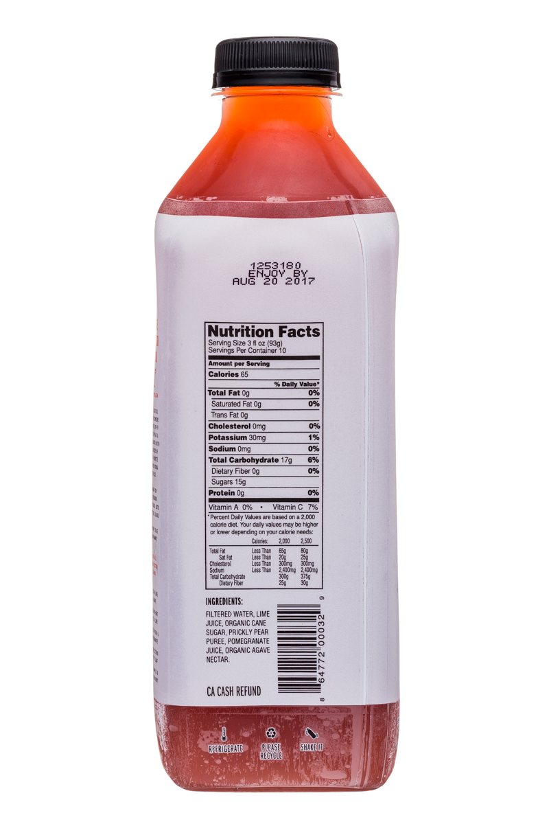 Fresh Victor: FreshVictor-32oz-CocktailBlend-CactusPearPom-Facts