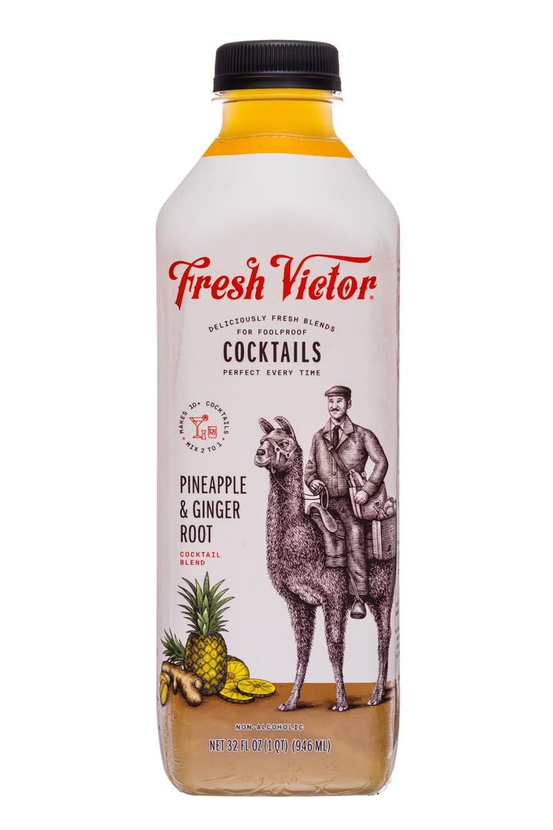 Fresh Victor: FreshVictor-32oz-CocktailBlend-PineappleGingerRoot-Front