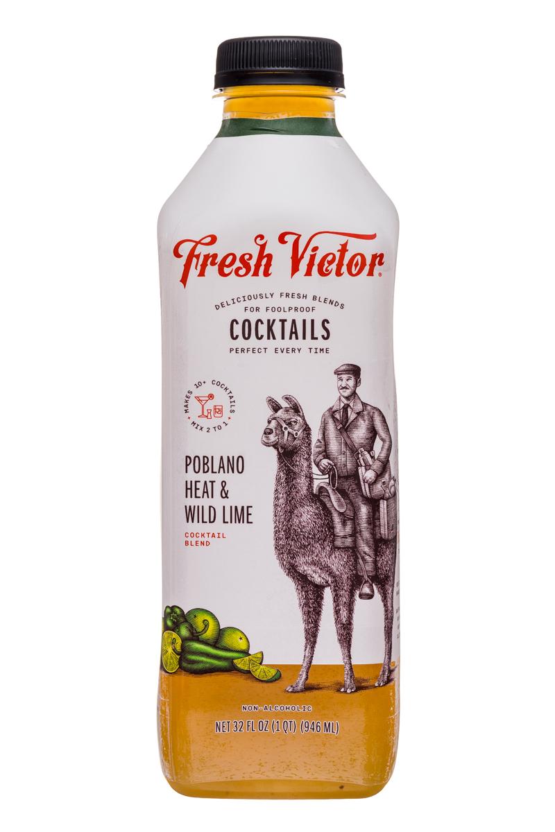 Fresh Victor: FreshVictor-32oz-CocktailBlend-PoblanoHeatWildLime-Front