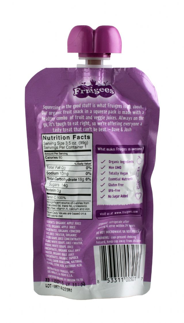 Fruigees: Fruigees KaleGrape Facts