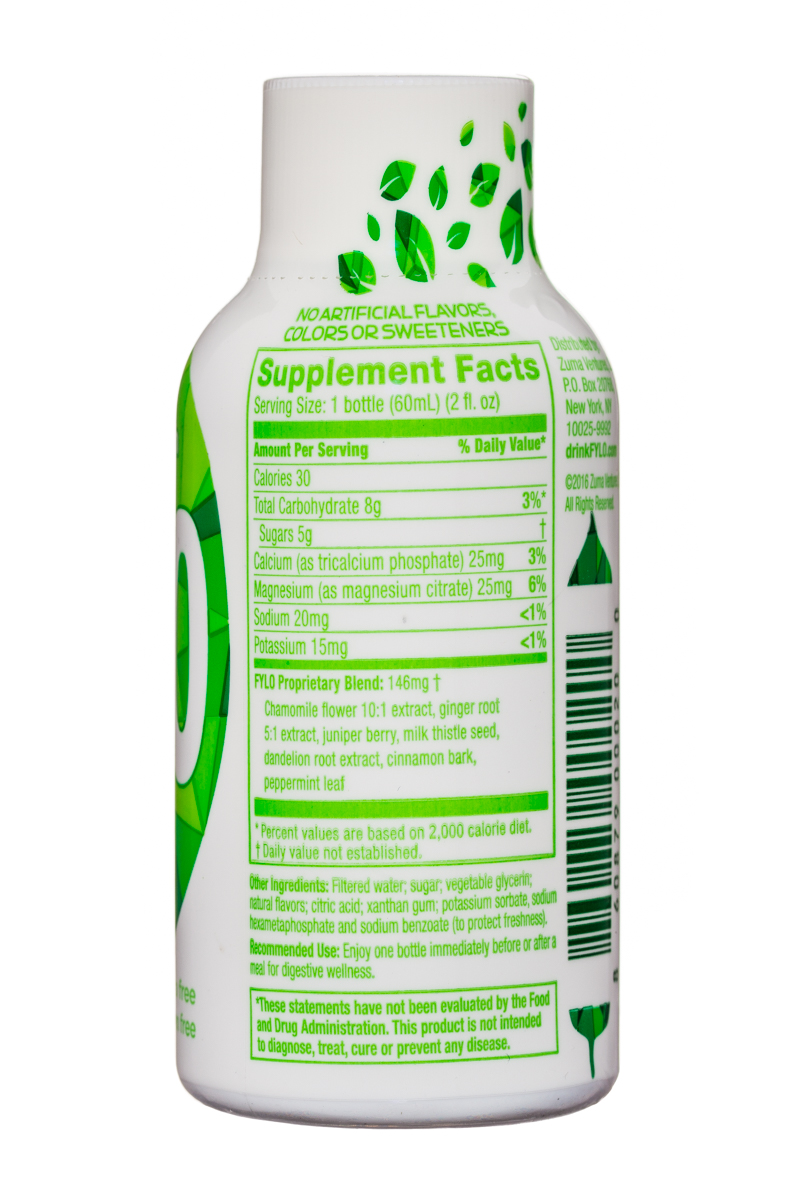 FYLO: Fylo-DigestiveWellness-2oz-Mint-Facts