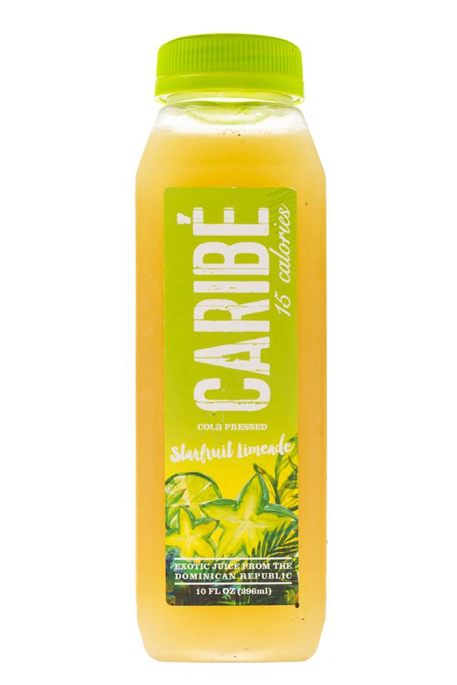 Caribe: Carabe-ColdPress-10oz-StarfruitLimeade-Front