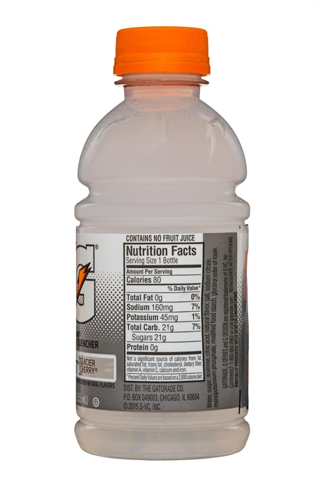 Gatorade G Series: Gatorade-12oz-Frost-GlacierCherry-Facts