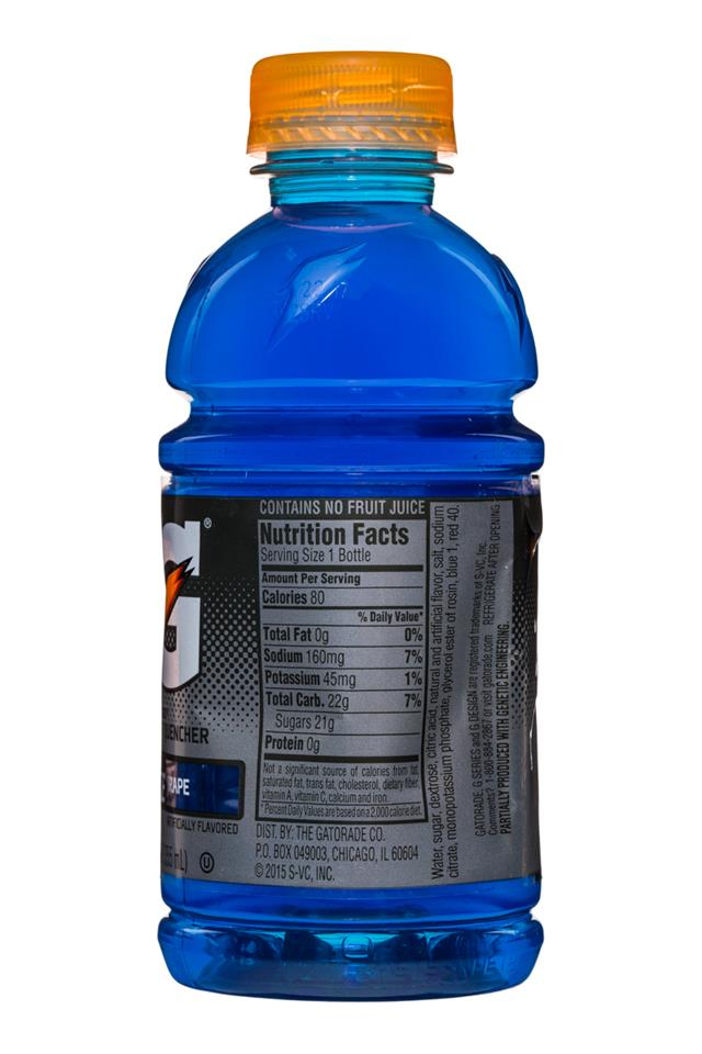 Gatorade G Series: Gatorade-12oz-Fierce-Grape-Facts