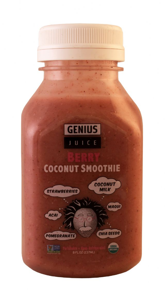 Genius Coconut Smoothies: Genius BerrySM Front
