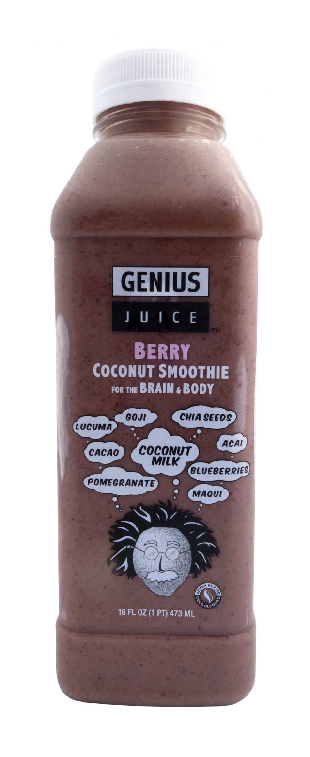 Genius Coconut Smoothies: GeniusJuice Berry Front