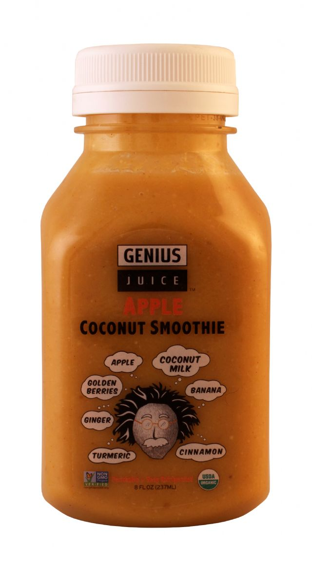 Genius Coconut Smoothies: Genius AppleSM Front