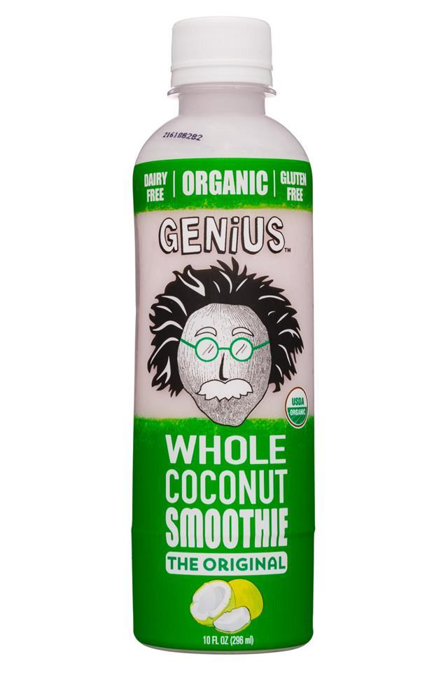 Genius Coconut Smoothies: Genius-10oz-WholeCoconutSmoothie-Original-Front