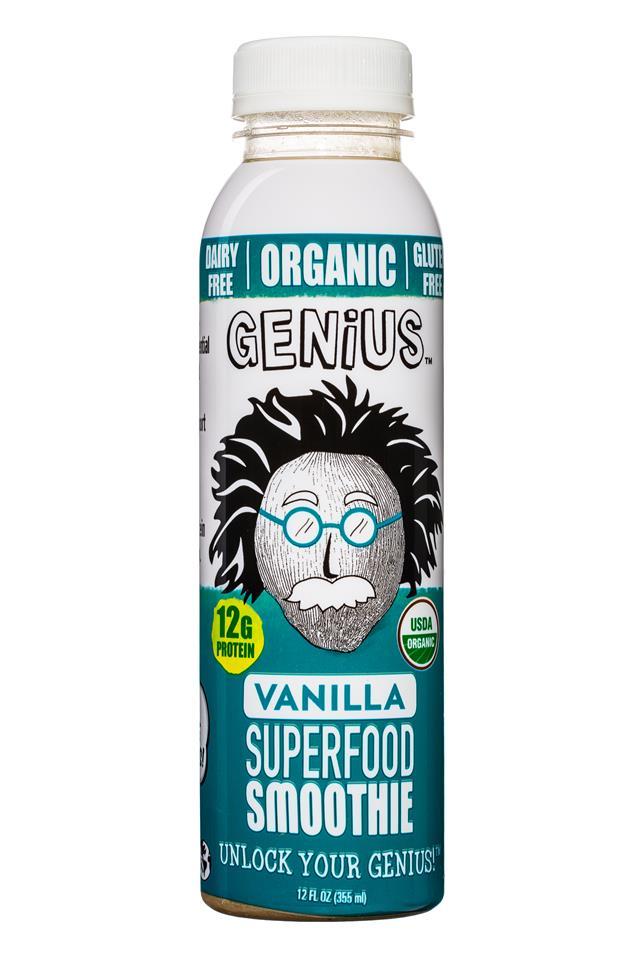 Genius Coconut Smoothies: Genius-12oz-SuperfoodSmoothie-Vanilla-Front