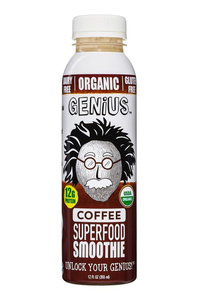 Genius Coconut Smoothies: Genius-12oz-SuperfoodSmoothie-Coffee-Front