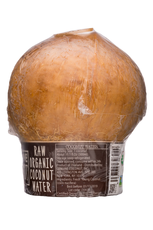 Genuine Coconut: GenuineCoconut-10oz-RawCoconutWater-Facts