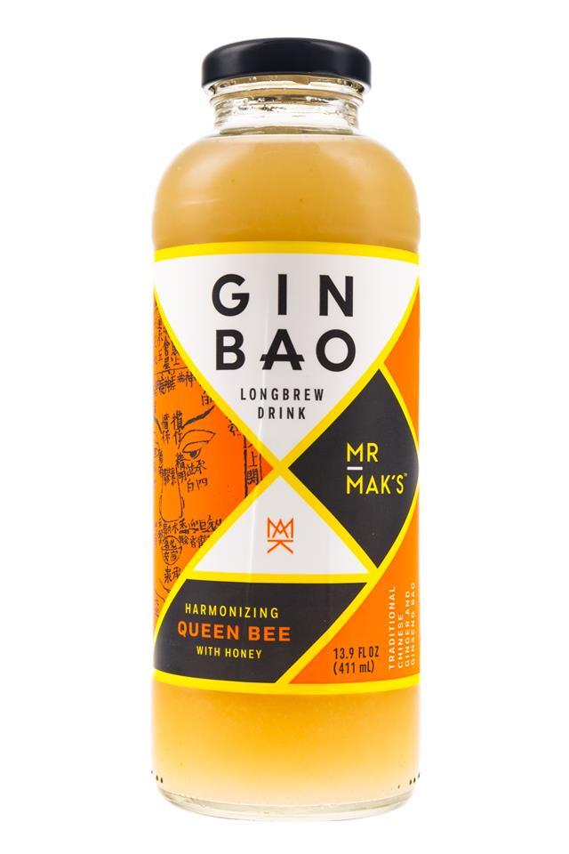 Mr Mak's Ginbao: GinBao-14oz-Longbrew-QueenBee-Front