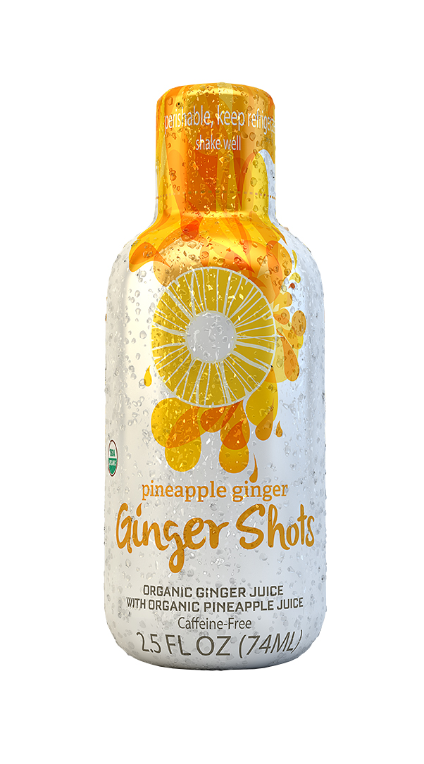 Ginger Shots: Ginger Pineapple Front