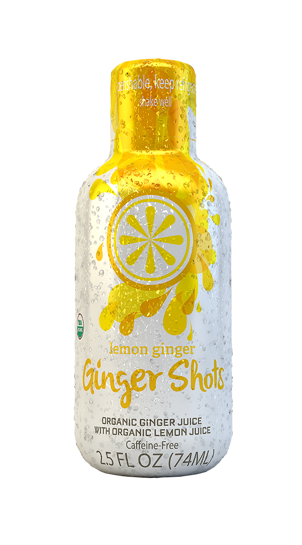 Ginger Shots: Ginger Lemon Front