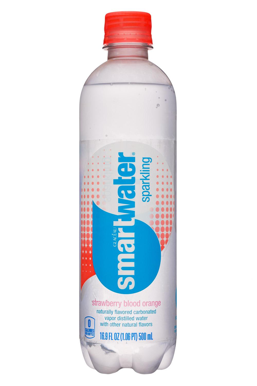 Glacéau Smartwater: SmartWater-17oz-GlaceauSparkling-StrawbBloodOrange-Front