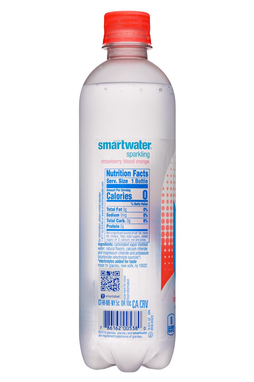 Glacéau Smartwater: SmartWater-17oz-GlaceauSparkling-StrawbBloodOrange-Facts