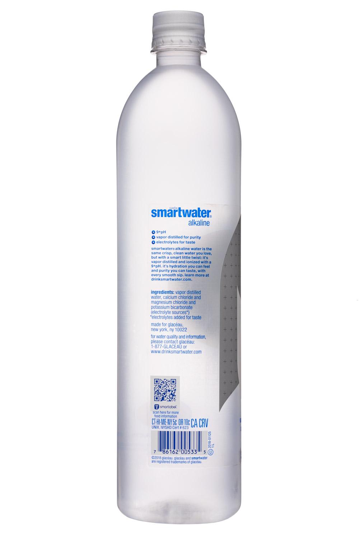 Glacéau Smartwater: SmartWater-34oz-Glaceau-Alkaline-Facts
