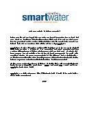smartwater fact sheet