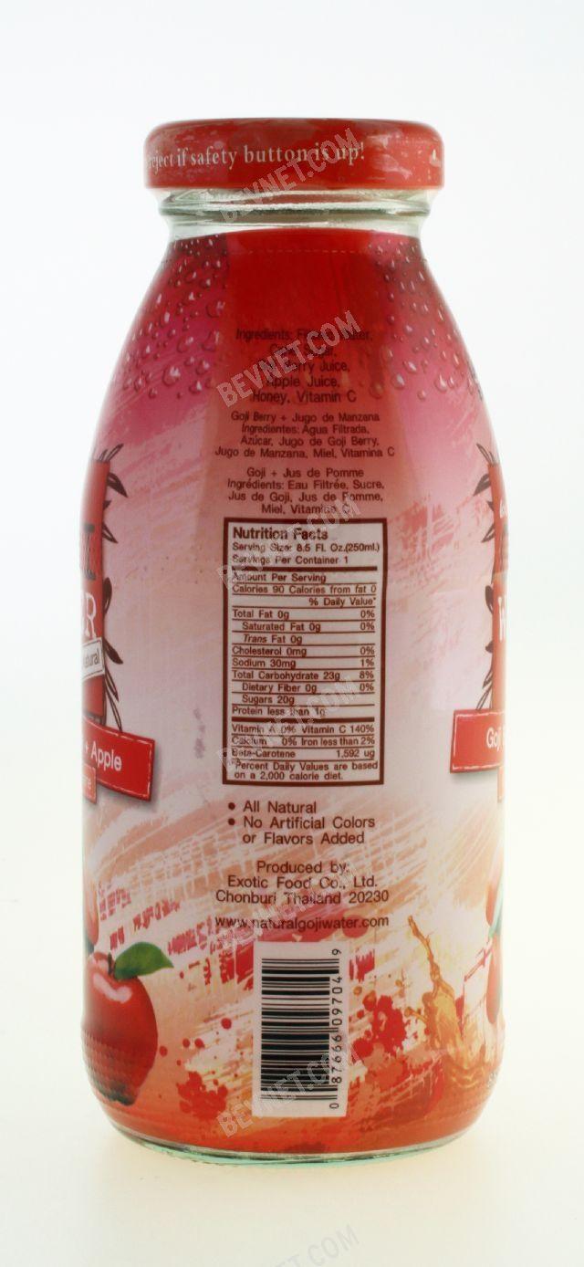 Goji Berry Juice Apple Goji Water Bevnet Com Product Review
