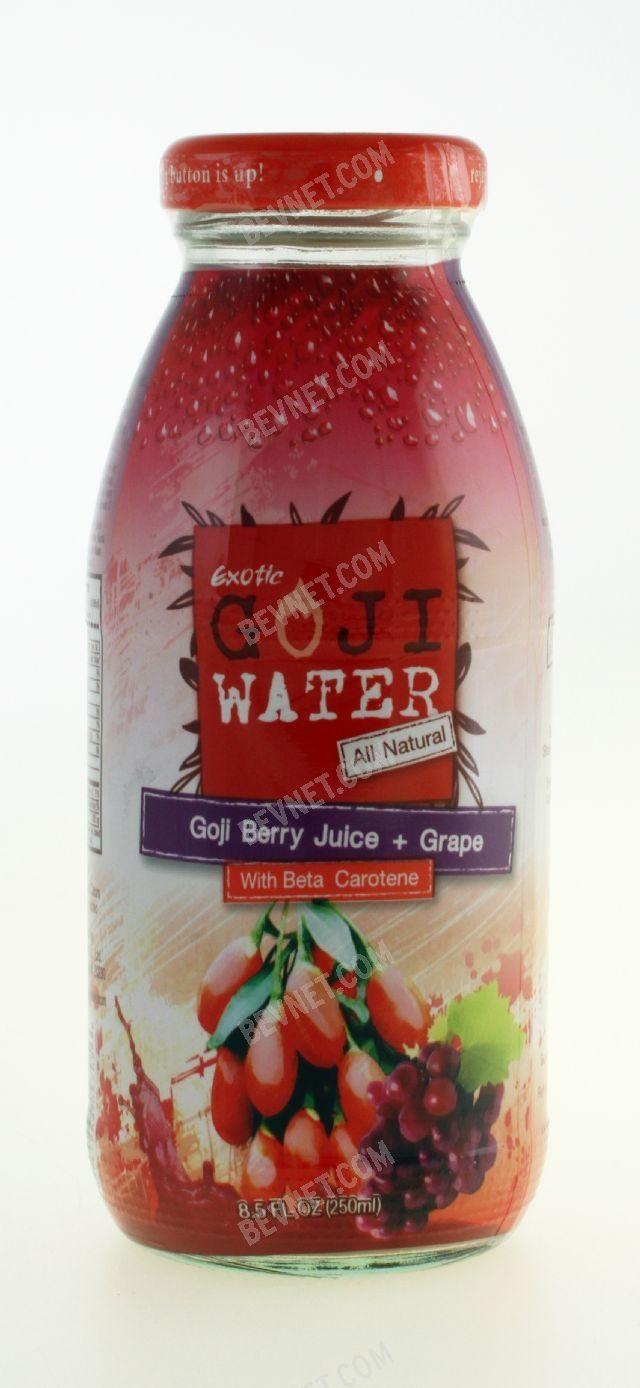 Goji Berry Juice Grape Goji Water Bevnet Com Product Review