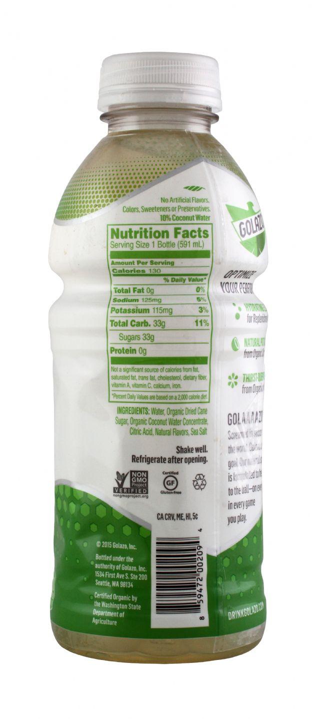 Golazo Natural Sports Fuel: Golazo20 MangoLime Facts