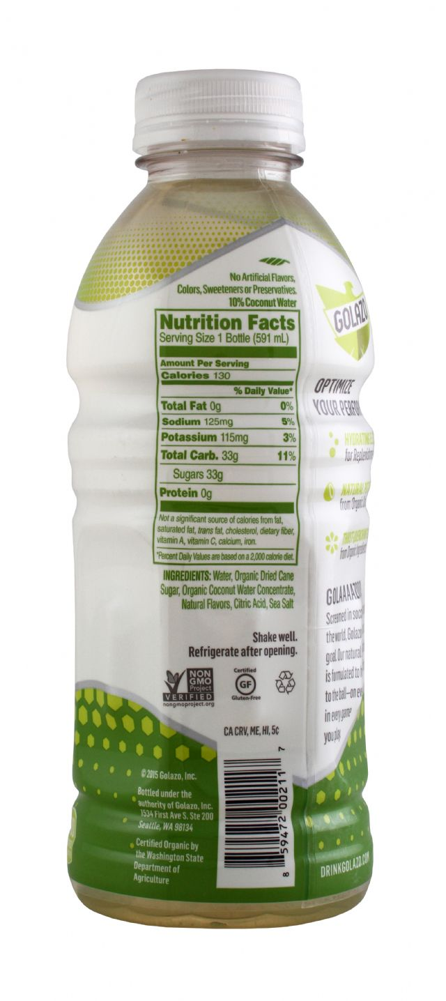 Golazo Natural Sports Fuel: Golazo20 LemonLime Facts