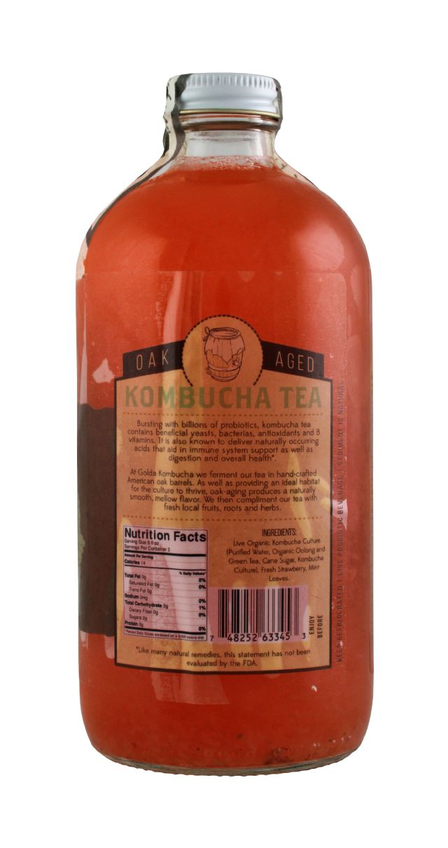 Golda Kombucha: Golda StraMint Facts