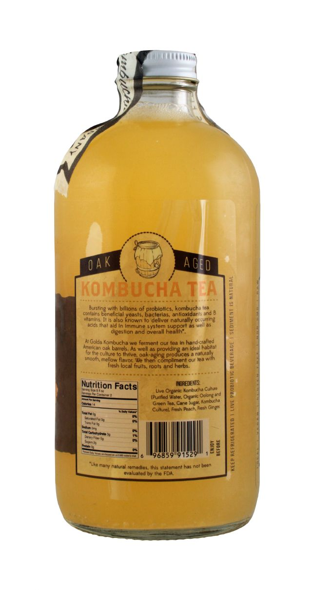 Golda Kombucha: Golda PeachGinger Facts
