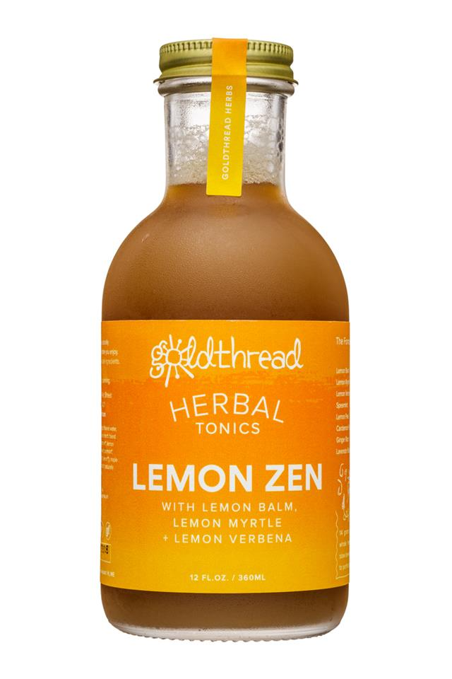 Goldthread Herbs: Goldthread-12oz-HerbalTonics-LemonZen-Front