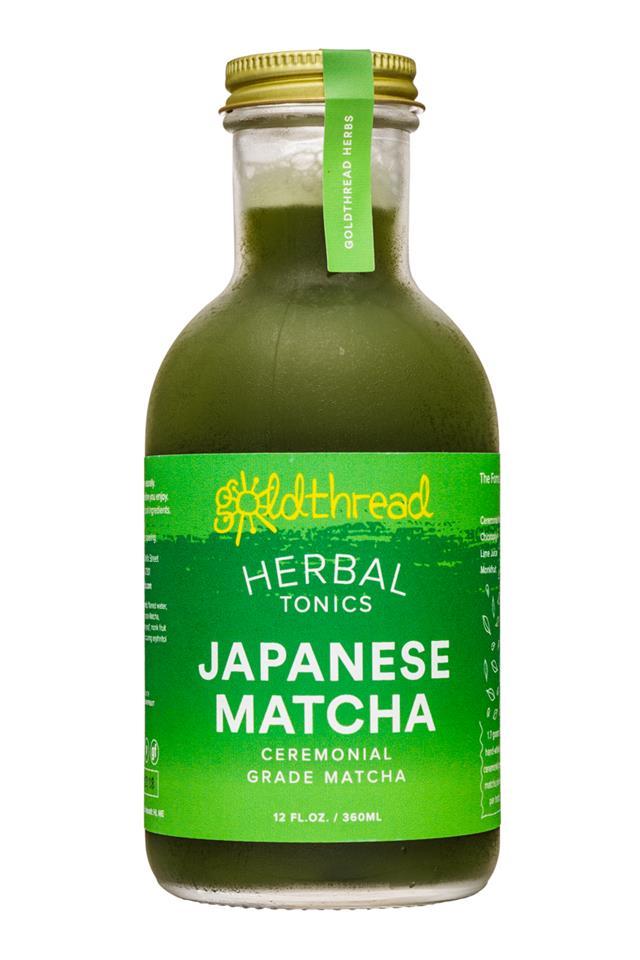 Goldthread Herbs: Goldthread-12oz-HerbalTonics-JapaneseMatcha-Front