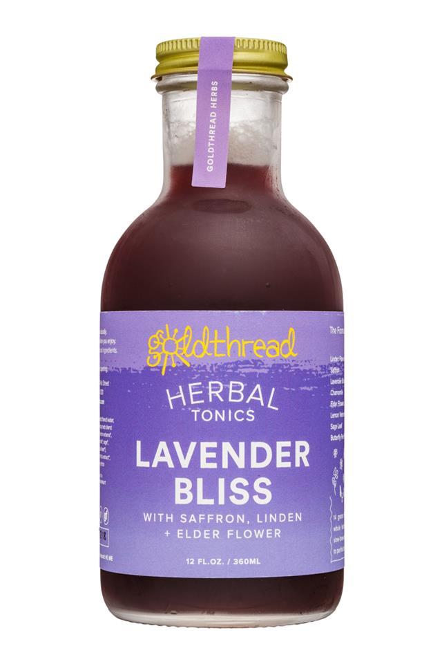 Goldthread Herbs: Goldthread-12oz-HerbalTonics-LavenderBliss-Front