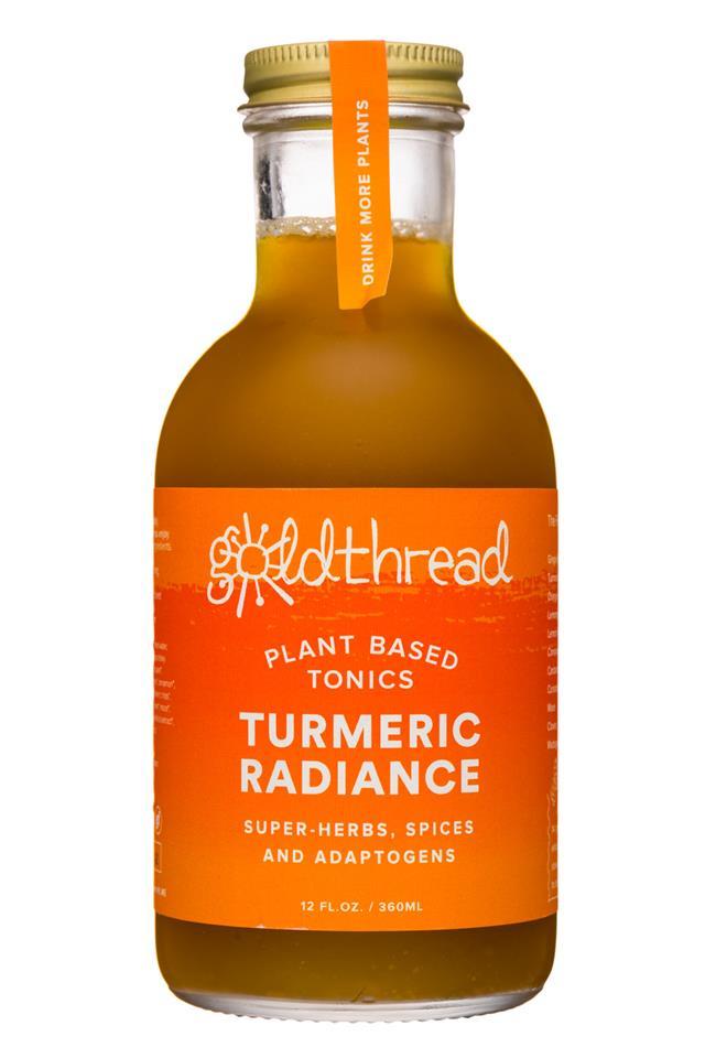 Goldthread Herbs: Goldthread-12oz-19Label-Tonic-TurmericRadiance-Front