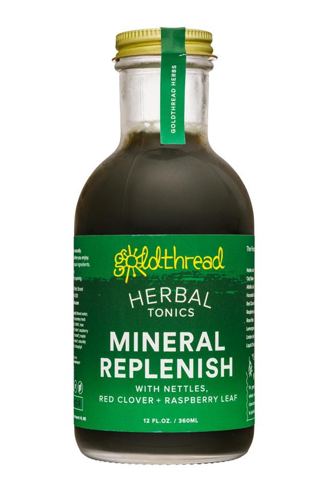 Goldthread Herbs: Goldthread-12oz-HerbalTonics-MineralReplenish-Front