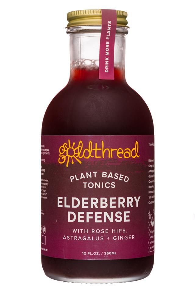 Goldthread Herbs: Goldthread-12oz-19Label-Tonic-ElderberryDefense-Front