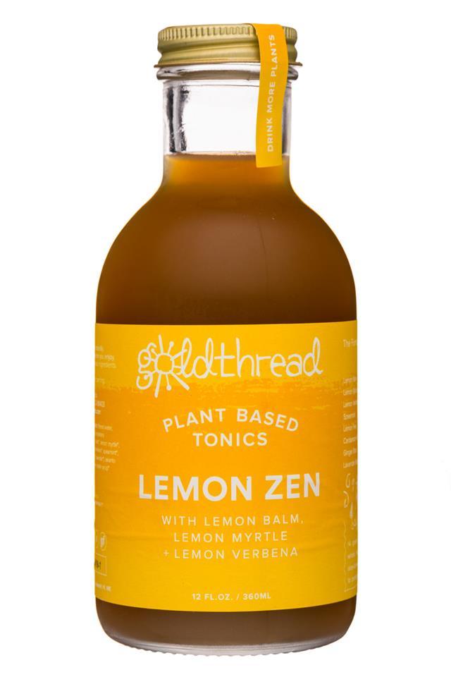 Goldthread Herbs: Goldthread-12oz-19Label-Tonic-LemonZen-Front