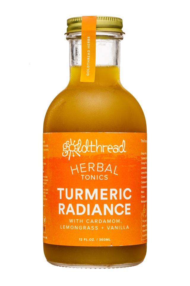 Goldthread Herbs: Goldthread-12oz-HerbalTonics-TurmericRadiance-Front