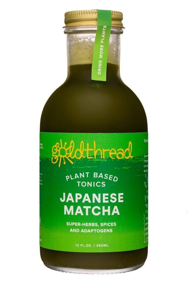 Goldthread Herbs: Goldthread-12oz-19Label-Tonic-JapaneseMatcha-Front