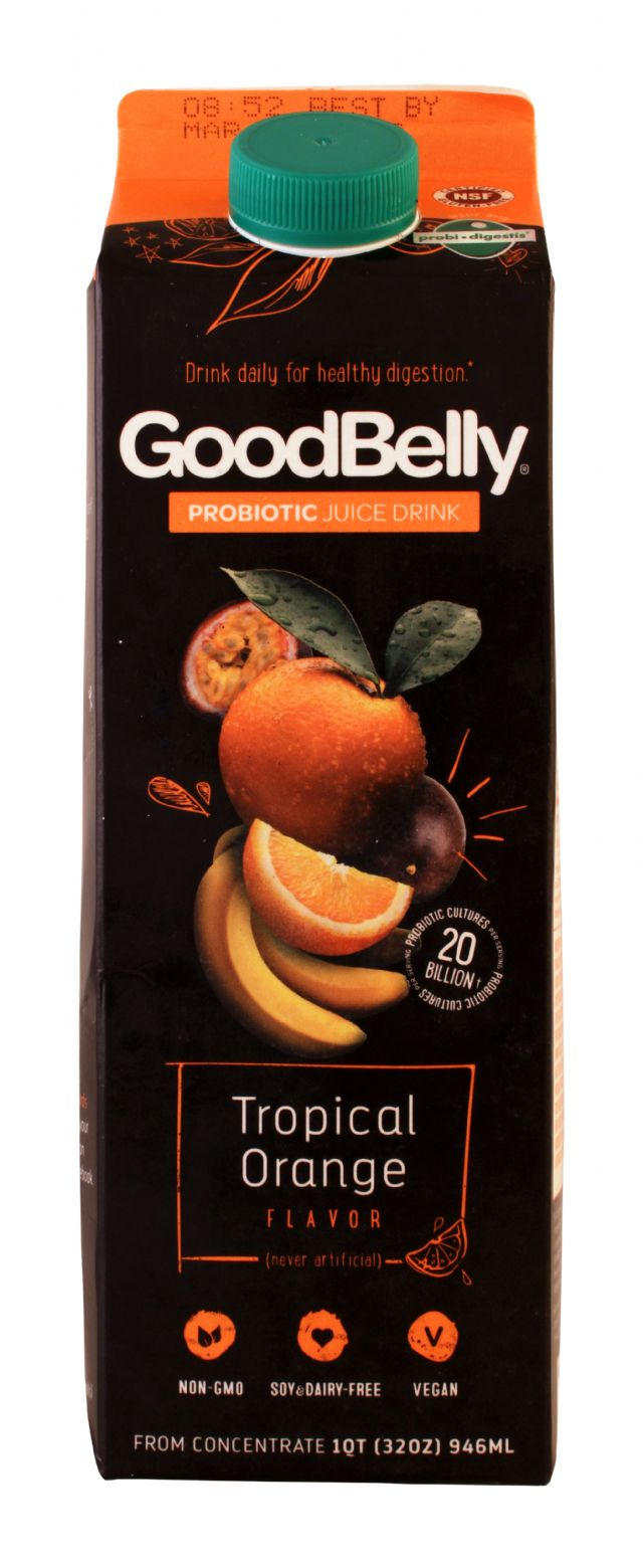 GoodBelly: Goodbelly TropOrange Front