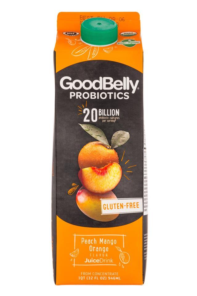 GoodBelly: Goodbelly-32oz-JuiceDrink-PeachMangoOrange-Front