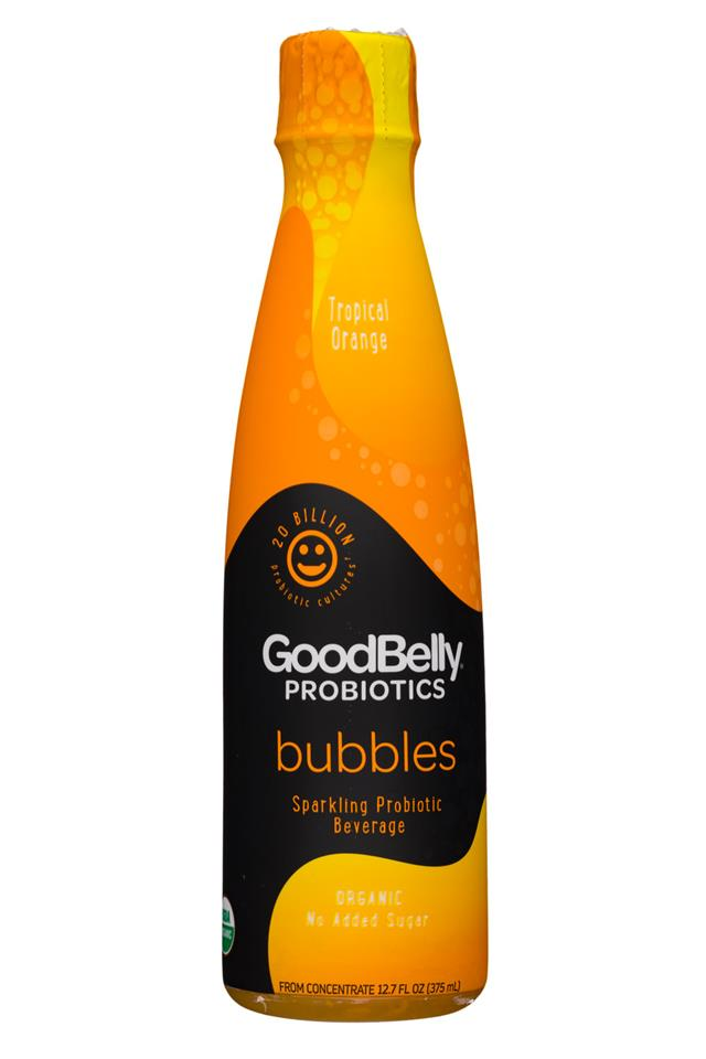 GoodBelly: GoodBelly-13oz-Bubbles-TropicalOrange-Front