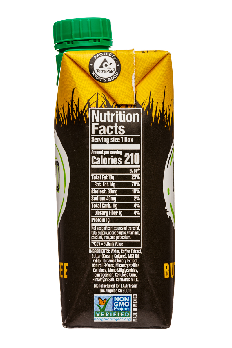 Grass Fed Coffee: GrassFedCoffee-11oz-ColdBrew-ButterCoffee-Facts