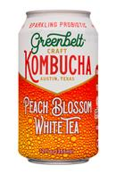 Greenbelt Craft Kombucha: Greenbelt-12oz-Kombucha-PeachBlossom-WhiteTea-Front