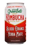 Greenbelt Craft Kombucha: Greenbelt-12oz-Kombucha-BloodOrange-YerbaMate-Front