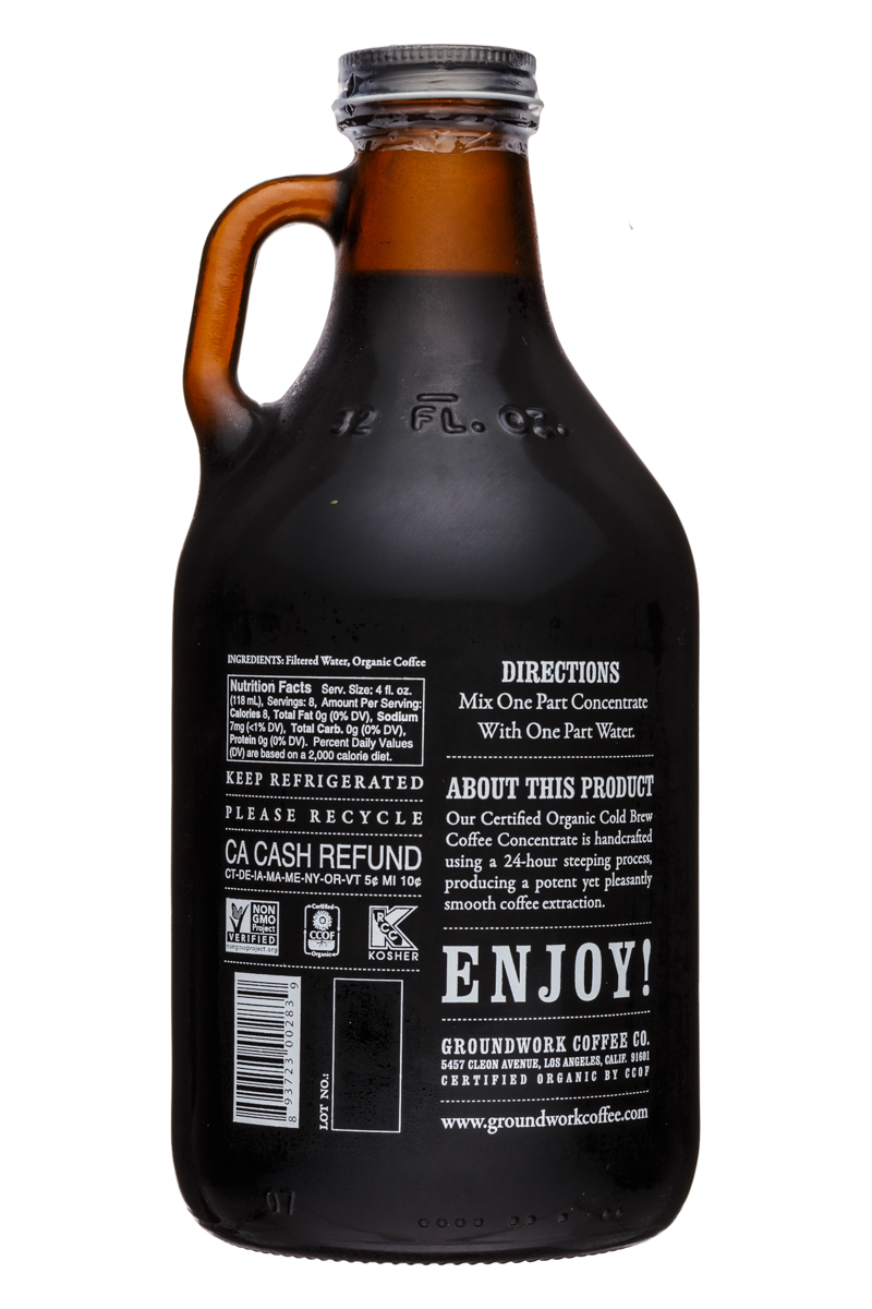 Groundwork Coffee Co.: Groundwork-32oz-ColdBrew-Concentrate-Facts