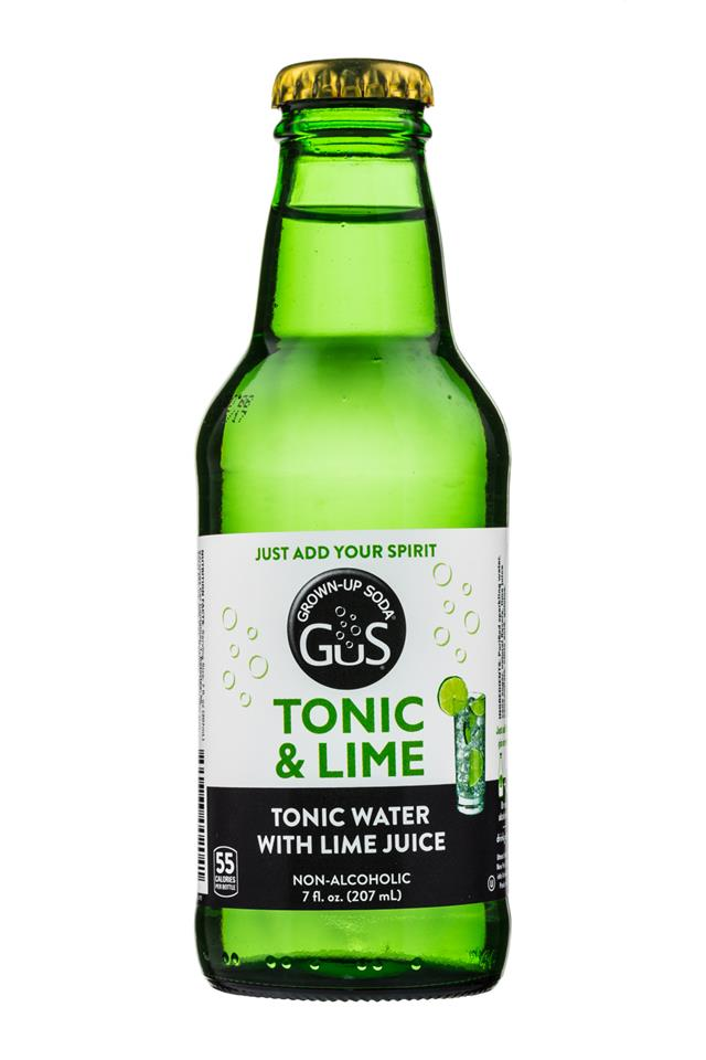GuS Single Serve Mixers: GUS-7oz-TonicLime-TonicWaterLime