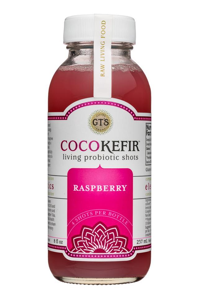 GT's Veggiekefir: GTs-8oz-CocoKefir-Raspberry-Front