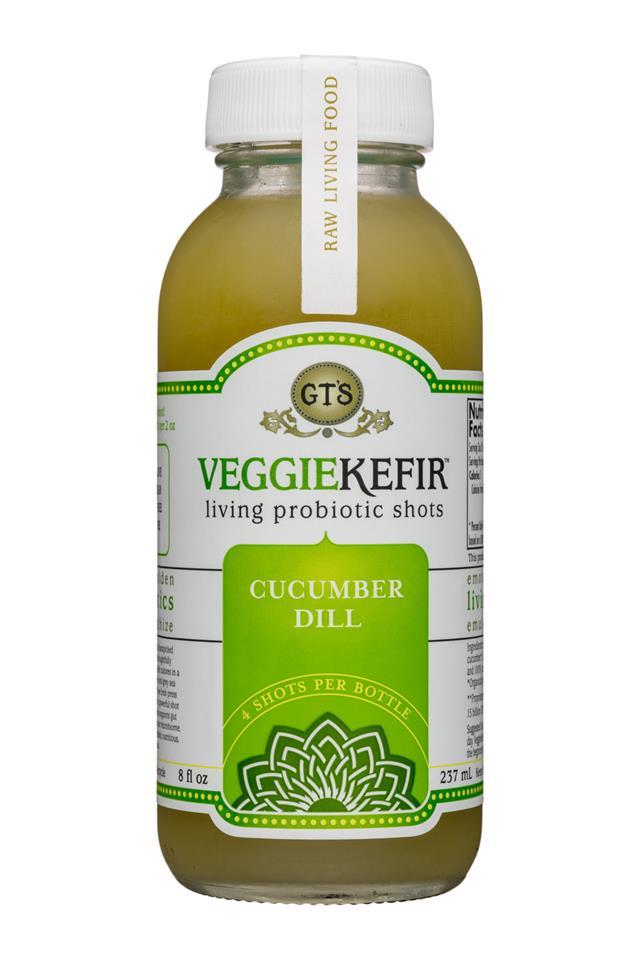 GT's Veggiekefir: GTs-VeggieKefir-8oz-CucumberDill-Front