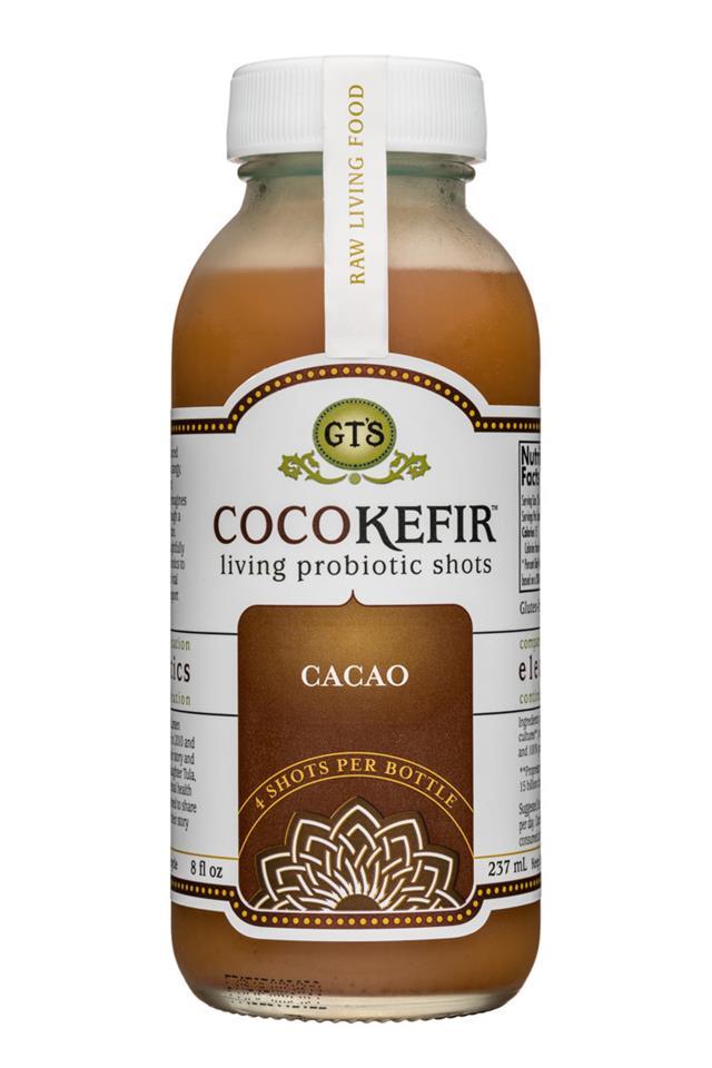 GT's Veggiekefir: GTs-8oz-CocoKefir-Cacao-Front