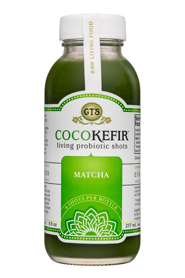 GT's Veggiekefir: GTs-8oz-CocoKefir-Matcha-Front